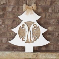 UNFINISHED Christmas Tree Monogram Winter Wonderland Christmas, Little Christmas Trees, Christmas Wood, Christmas Wreaths, Christmas Ornaments, Christmas Stuff, Christmas Ideas, Girls Night Crafts, Craft Night