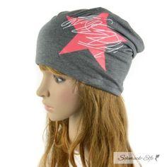 Mütze / Beanie RED  STAR dunkel grau