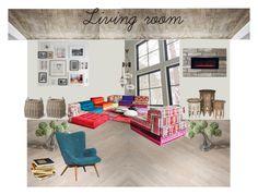 Living_room by veryvlada on Polyvore featuring interior, interiors, interior design, дом, home decor, interior decorating, TradeMark and Garden Trading