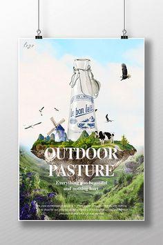 Quảng cáo sáng tạo sữa#pikbest#templates Menu Design, Banner Design, Flyer Design, Branding Design, Milk Advertising, Advertising Poster, Ads Creative, Creative Advertising, Poster Ads