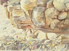One of 5 large paintings of the Cabrillo Beach tide pools. Displayed at the Cabrillo Marine Museum and the Long Beach Hyatt Hotel.