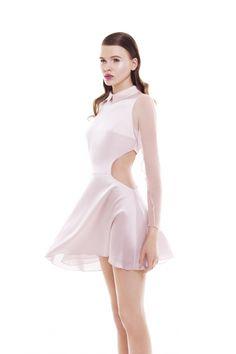 Soft pink cutaway dress. Omelya Atelier Resort 2013