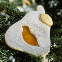 Partridge-in-a-Pear-Tree Cookies