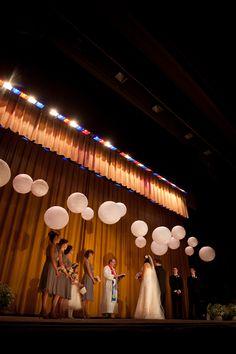 Theater wedding ceremony