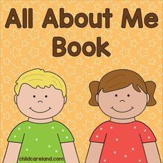 """During the first week of school we make """"all about me"""" books and read them at circle time so the children can get to know each other a bit better. This year I finally go a chance to update my book. Learning Games For Toddlers, Early Learning Activities, Autism Activities, Toddler Learning, Infant Activities, All About Me Preschool Theme, All About Me Crafts, All About Me Booklet, September Activities"""
