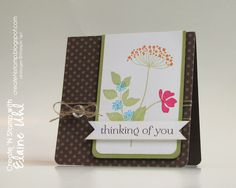 Elaine's wonderful Summer Silhouettes card also features Sweet Essentials and Neutrals dsp stack.