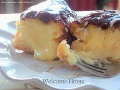 Welcome Home: ♥ Chocolate Eclairs with Vanilla Custard Filling