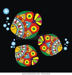 Find Indian Folk Painting Madhubani Painting Fish stock images in HD and millions of other royalty-free stock photos, illustrations and vectors in the Shutterstock collection. Thousands of new, high-quality pictures added every day. Madhubani Paintings Peacock, Madhubani Art, Indian Art Paintings, Fabric Painting, Fabric Art, Mask Painting, Bottle Painting, Art Drawings For Kids, Fish Drawings