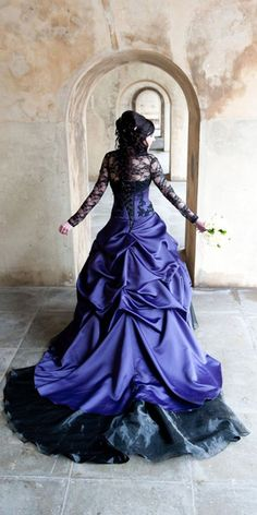 Gothic Wedding Dresses: Challenging Traditions ❤ See more: http://www.weddingforward.com/gothic-wedding-dresses/ #weddings