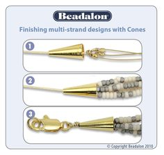 Finishing multi- strand  #Beading #Jewelry #Tutorials