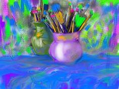 Laura Wasilowski used Art Studio on her Ipad!