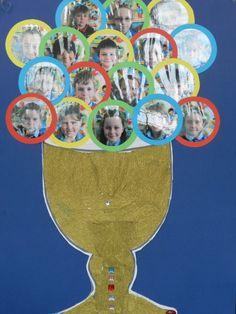 Bellissima idea per far conoscere i bambini della Prima Comunione alla comunità riunita nella celebrazione!