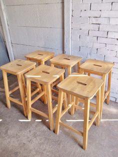 £35 - Tall Vintage Retro Old School Lab Chair Stool Suit Lab table (59 cms)   eBay