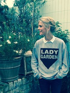 """Emilia Fox on Twitter: """"Wearing cheeky #LadyGardenCampaign sweater in support of @gynaecancerfund. Get yours @TopShop from today! http://t.co/XlDbeu070M"""""""