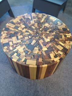 Trim wood scraps table