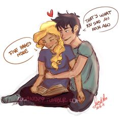 luciand29: Sketch of Percabeth! I haven't done a sketch of them in a while!