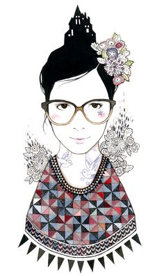 i love catherine campbell's illustration style. clean & imaginative :)