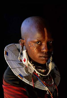 Face from Tanzania. We Are The World, People Around The World, African Beauty, African Women, Pintura Tribal, Black Is Beautiful, Beautiful People, Africa People, Tribal People
