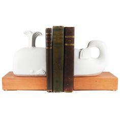 Jonathan Adler Whale Bookends with Books