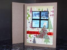 Christmas Card: Window on Christmas Scene