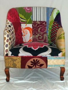 Kelly Swallow Patchwork Chair - flickr