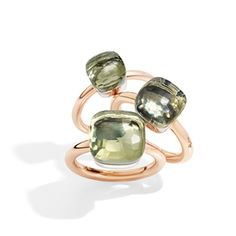 Pomellato 18k Rose Mini Nudo Ring Prasiolite  Now available at Diamond Dream Fine Jewelers https://www.facebook.com/pages/Diamond-Dream-Fine-Jewelers/170823023636 https://www.diamonddreamjewelers.com info@diamonddreamjewelers.com 908.766.4700