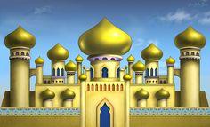 Stock: Aladdin Arabian Palace backdrop by on DeviantArt Aladdin Art, Aladdin Musical, Castle Clipart, Jasmin Party, Arabian Nights Party, Castle Silhouette, Disney Princess Jasmine, Photo Canvas, Sims 4