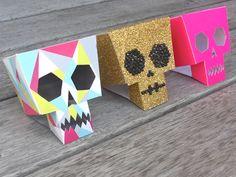 Paper toys Calaveras en 3D