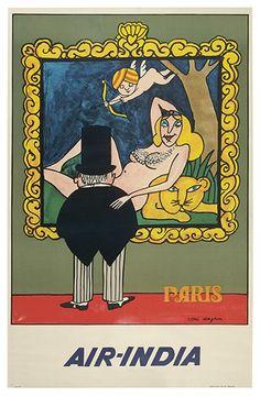 Air-India - Paris - 1969 - illustration : Tomi Ungerer -