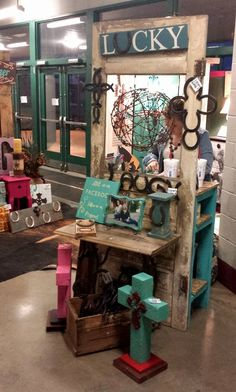 Old Door Display    Display Counter   Gypsy AdKtions