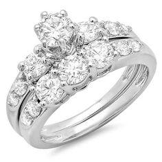 3 Stone Bridal Engagement Rings
