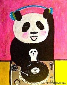 """pepeart: """"DJ Panda family"""""""