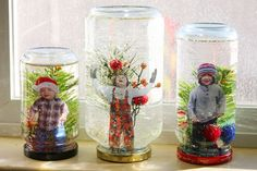 I've seen DIY snow globes before, and they always get me itching to pull out the materials and whip a few of them up, but has to be this is the cutest ever!