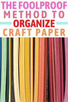 Scrapbook Paper Organization, Craft Organization, Scrapbook Paper Crafts, Craft Papers, Organize Scrapbook Paper, Scrapbook Storage, Scrapbook Supplies, Organizing, Craft Storage Solutions