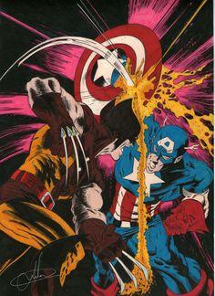 Wolverine vc Cap. América