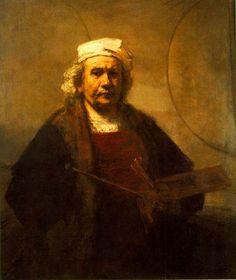 Rembrandt van Rijn, Self Portrait 1661 on ArtStack #rembrandt #art