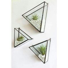 Handmade Home Decor 'These charming handmade triangles are amazing, perfect home for air plants Handmade Home Decor, Cheap Home Decor, Diy Home Decor, Decor Crafts, Room Decor, Air Plants, Indoor Plants, Hanging Plants, Potted Plants