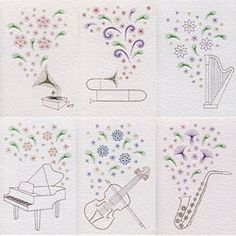Value Pack No.62: Musical Flowers patterns