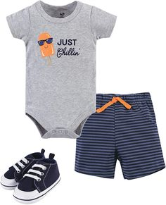 Great White Shark Man Walking Newborn Infant Baby Short Sleeve Layette Bodysuit 0-24 Months