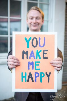 you make me happy wedding sign groom