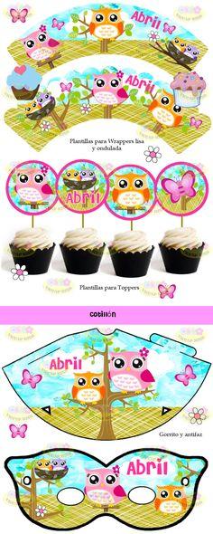 (9) Kit Imprimible Lechuzas Buhos Candy Bar Invitaciones Cajitas - $ 44,99 en MercadoLibre