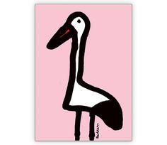 Rosa Storchen Karte als Gratulation zur Geburt - http://www.1agrusskarten.de/shop/rosa-storchen-karte-als-gratulation-zur-geburt/    00015_0_967, Baby, Comic, Geburt, Grußkarte, Klappkarte, Storch, Taufe, Tiere00015_0_967, Baby, Comic, Geburt, Grußkarte, Klappkarte, Storch, Taufe, Tiere