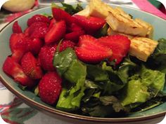 Seared Tofu and Strawberry Salad w/Vegan Dressing