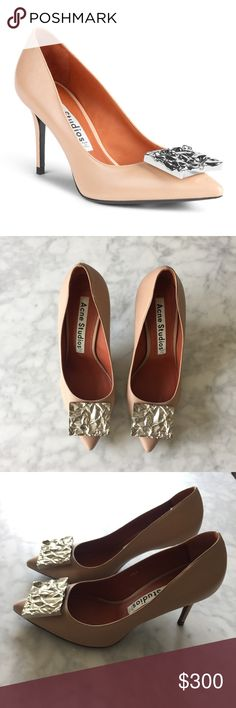 Acne Studios Andrea Nappa Pump Worn once to an event! Acne studios Andrea Nappa Dusty Pink pumps! Size 37! 🚫NO TRADES🚫 Acne Shoes Heels