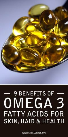 ALA is mainly present in plant oils like flaxseed oil, hemp oil, seabuckthorn seed and berry oils etc while EPA and DHA can be obtained from marine oils like fish oil, squid oil, algal oil krill oil to name a few. Here we list the benefits of Omega 3 fatty acids in the three categories of health, skin and hair.