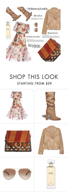"""""""#483 my runway look is..."""" by smiljana-s ❤ liked on Polyvore featuring WithChic, Gianvito Rossi, Chloé, Michael Kors, Anja and Ralph Lauren"""