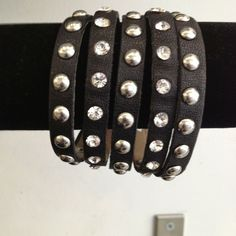 Hand made bracelet with studs    Kane Women's Jewelry via: Michelle Tan - Price: $59.00