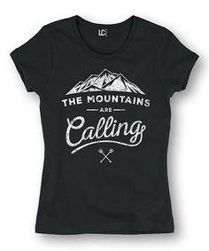 Look at this #zulilyfind! Black 'Mountains Are Calling' Tee #zulilyfinds