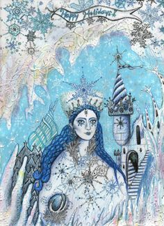 The Snow Queen drawing by Nefertara