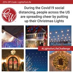 Help spread cheer and join others in the #LightsforLife movement to light the darkness. We want to make it easy to participate with 25% off all lights with code LightsforLife. 50% of our profits will be donated to FeedingAmerica.org. House Arrest, Christmas Lights, Light Up, Cheer, Challenges, Coding, Darkness, Life, Easy